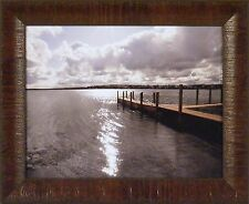 SUNRISE AT CROOKED LAKE by Monte Nagler 14x17 FRAMED PRINT Photo Dock Lake