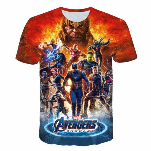 Femmes T-shirt Hommes 3D Imprimé à manches courtes Tee Tops Avengers 4 CAPTAIN