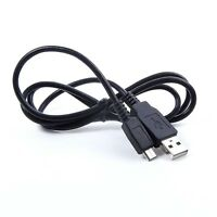 Usb Charger + Data Cable Cord For Samsung Camcorder Hmx-h300 Bn/bp H300sn H300sp