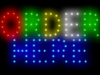 """Donuts Kitchen Shop Coffee and Baked Led Neon Sign Display 15.5/""""X 9/"""""""