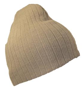 2cceb507402 Khaki Tan Cable Knit Ribbed Knit Beanie Cap Winter Cold Ski Caps Hat ...