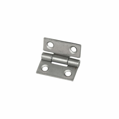 Door Pk of 2 Cabinet New Eclipse Steel Fixed Pin Hinges Self-Colour 25 x 22mm