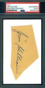 Jim Gilliam PSA DNA Coa Autograph Hand Signed 3x5 Index Card
