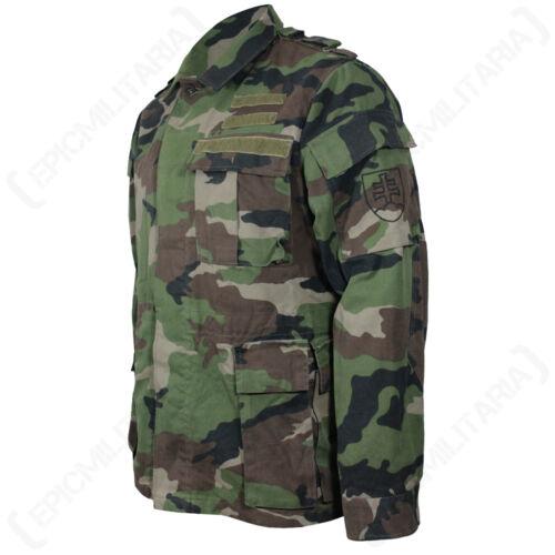 campo del de M97 excedente camuflaje Escudo ejército Chaqueta Woodland original de camisa eslovaca q65OO