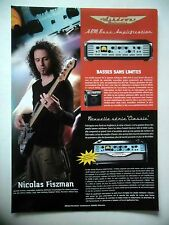 PUBLICITE-ADVERTISING :  Ampli Basse ASHDOWN ABM  10/2007 Nicolas Fiszman