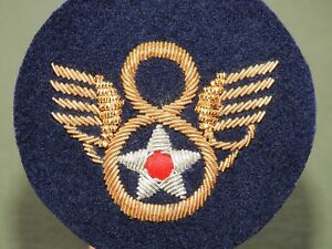 US-Army-AAF-WW2-EASTMAN-BRITISH-MADE-034-STUBBY-WING-034-BULLION-8TH-AIR-FORCE-PATCH