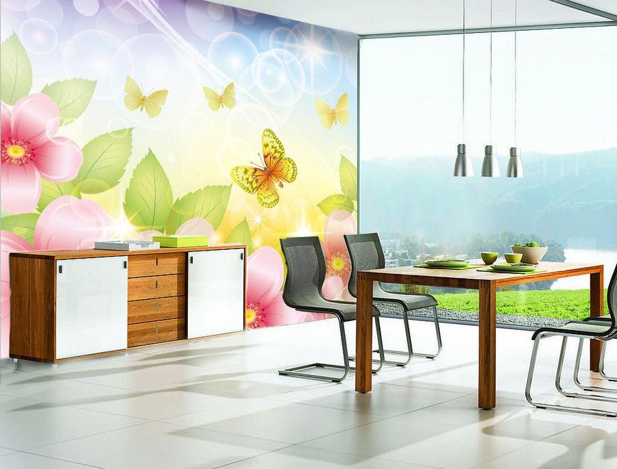 3D Butterfly Flower 97 Wall Paper Murals Wall Print Wall Wallpaper Mural AU Kyra