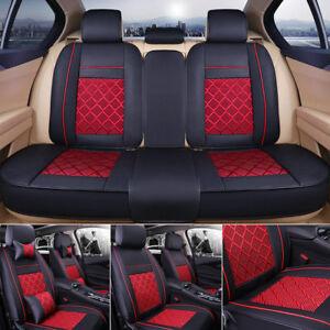 pu leder ice silk auto sitzbez ge autositzbez ge schonbezug f r 5 sitz fahrzeug ebay. Black Bedroom Furniture Sets. Home Design Ideas