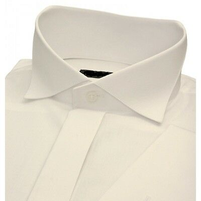 THE BEST IVORY SWEPT WING COLLAR WEDDING SHIRT ON EBAY.CO.UK ONLY £10 ALL SIZES