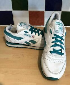 Reebok V48968 Green 7 de Eu Classics deporte 41 White Leather Zapatillas Uk 5 qEY7wWZ
