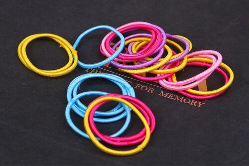100pcs Elastic Rope Women Fashion Hair Ties Ponytail Holder Head Band Hairbands