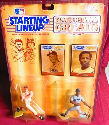 1989 SLU STARTING LINEUP Baseball Greats WILLIE MAYS WILLIE McCOVEY FIGURE SET