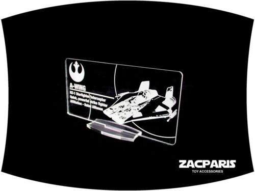 DISPLAY PLAQUE for  Lego 75003 6207 7134 A-Wing Models etc Clear acrylic!