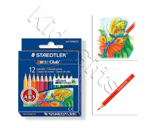 Staedtler 12 Half Size Coloured Pencil Crayons Break Resistant Kids Colouring