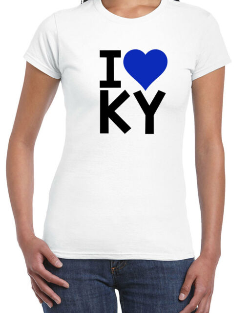 113 I Love KY women's T-Shirt kentucky bluegrass pride basketball wildcats retro