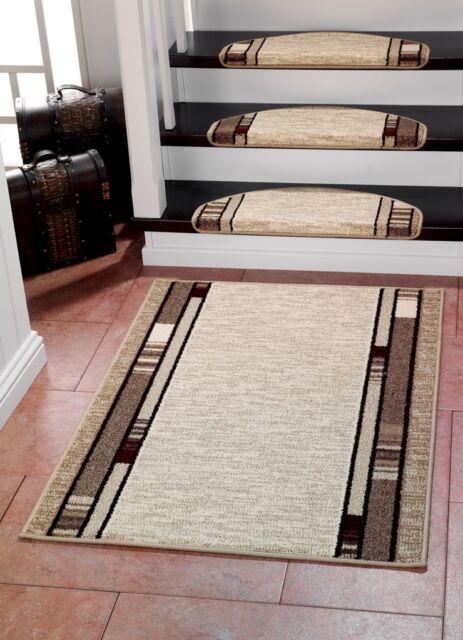 CASA 3617 BEIGE Stufenmatten und/oder passender Teppichläufer Läufer 67cm Breite