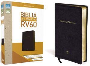 Biblia del ministro RVR 1960 (Spanish Edition) cubierta de piel Letra Grande