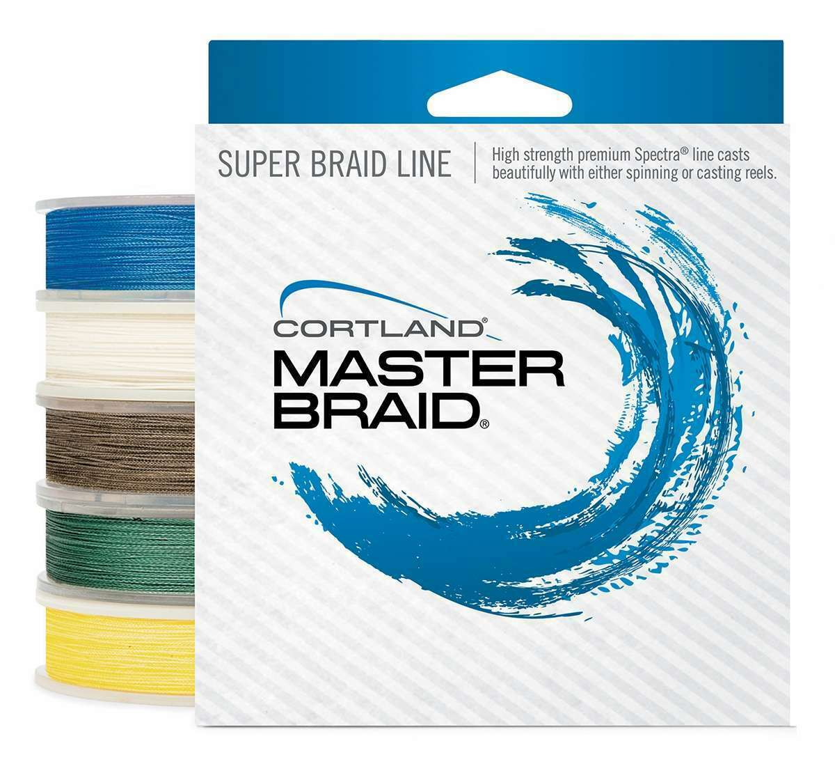 Cortland Master Braid 250 Yard Spool  - 160934  test 65lb.   color  Bronze  with 60% off discount