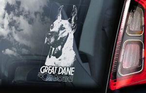 Gran-Danes-a-Bordo-Coche-Ventana-Pegatina-Aleman-Mastiff-Perro-Signo-V03