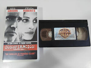 CONSPIRATION-FILM-BANDE-VHS-COLLECTEUR-DE-MEL-GIBSON-JULIA-ROBERTS-CASTILLAN