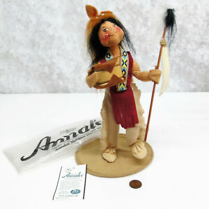 ANNALEE-039-97-MEDICINE-MAN-American-Indian-Spirit-Stick-Head-Dress-MOBILITY-DOLL