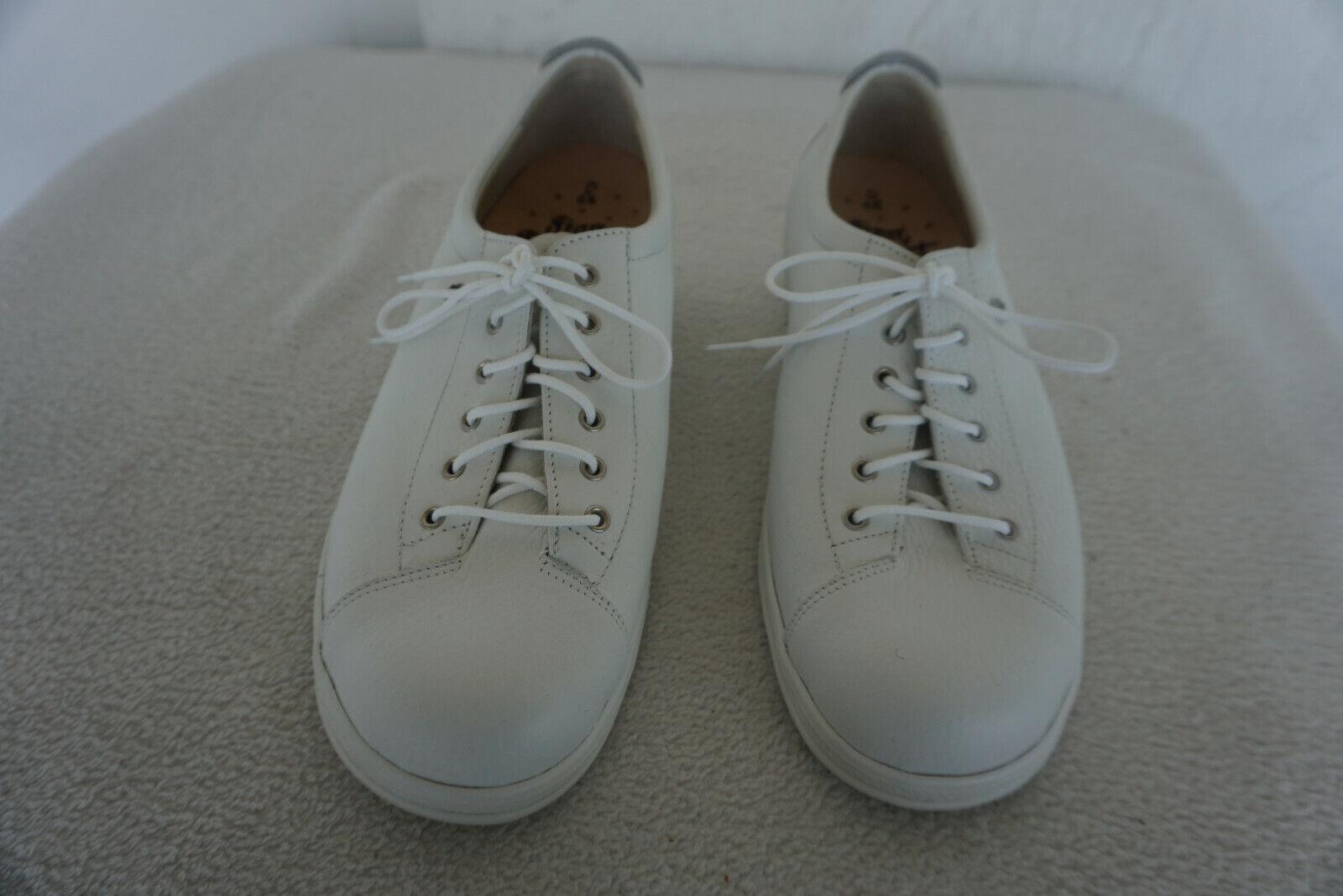 FINN COMFORT EMS Chaussures Femmes Chaussure Lacée M dépôts taille 6,5 40 en cuir blanc NEUF