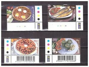 S23828) Malta 2002 MNH Food 4v