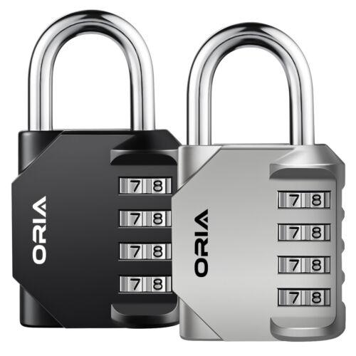 ORIA 2*Padlock 4-Digit Combination Lock Password Security Bag Travel Luggage Set