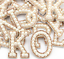 miniature 3 - Pearl Letter Patches Rhinestone Sparkle Alphabet Embroidery Sew on Iron on A-Z