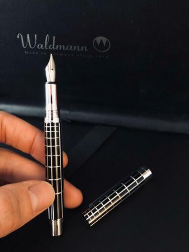 WALDMANN 925 Sterling Silver XETRA LACQUER Fountain Pen