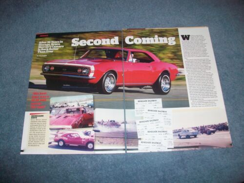 "1967 Chevy Camaro SS350 Article ""Second Coming"" Super Sport SS"