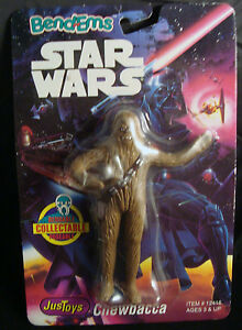 STAR-WARS-BEND-EMS-CHEWBACCA-JUSTOYS-1993-BENDABLE-amp-POSEABLE-NEW-UNIQUE-RARE