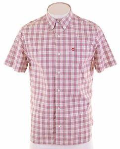TIMBERLAND-Mens-Shirt-Short-Sleeve-Small-Multi-Check-Cotton-Regular-Fit-HJ30