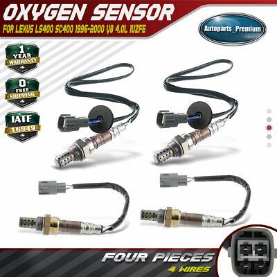 4x O2 Oxygen Sensor for Lexus LS400 95-00 SC400 1996-2000 1UZFE Up /& Downstream