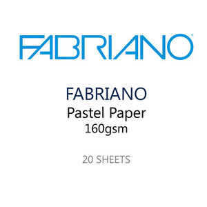Fabriano Pastel Paper Pack of 20 Sheets - 5 Colours 160 GSM - 35 x 25 cm