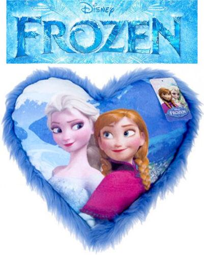 DISNEY FROZEN ANNA ELSA HEART CUSHION SOFA PILLOW GIRLS CHRISTMAS GIFT