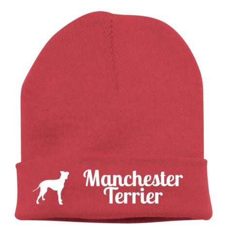 Beanie BERRETTO A Maglia Stick Motivo Manchester Terrier cani siviwonder