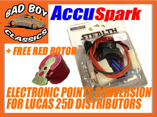 DM2 AccuSpark Stealth Electronic Ignition Points Conversion Kit For LUCAS 25D