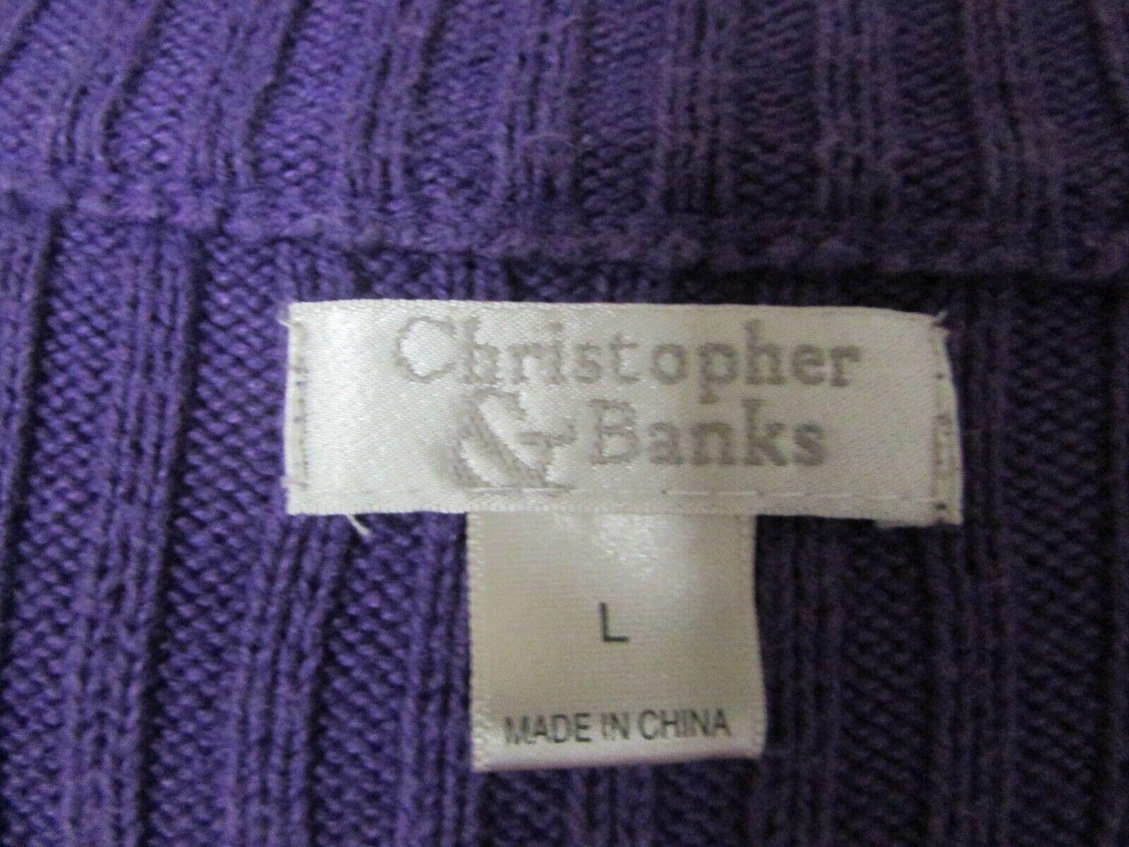 CHRISTOPHER & BANKS SZ L PURPLE ZIP FRONT RAMIE/C… - image 8
