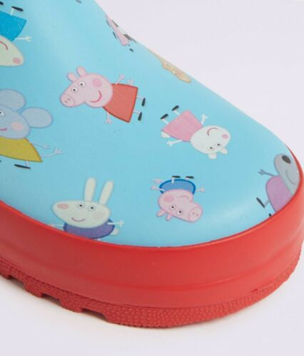 Brand New BNWT Cute M/&S Peppa Pig WELLIES Wellington Boots SIZE 10 Younger