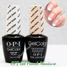 OPI GelColor Gel French Manicure Kit A Set GC L00 Alpine Snow+GC S86 Bubble Bath