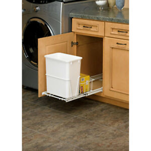 Kitchen Sink Pull Out Trash Can Bin Waste Garbage Container 20 Quart on under sink pull out drawer, under sink organizer kitchen, under sink organization, under sink water filter system, under sink storage shelves,