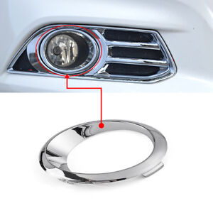 LH OR RH Chrome Fog Light Cover Bezel Trim Ring For 2013-2016 Ford Fusion Mondeo