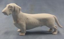 Dackel  Porzellanfigur dackel figur hundefigur Teckel W&A rauhhaar bw