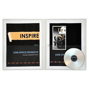 Lion Office Insta-Cover 2 Pocket Presentation Folder - 91600CR