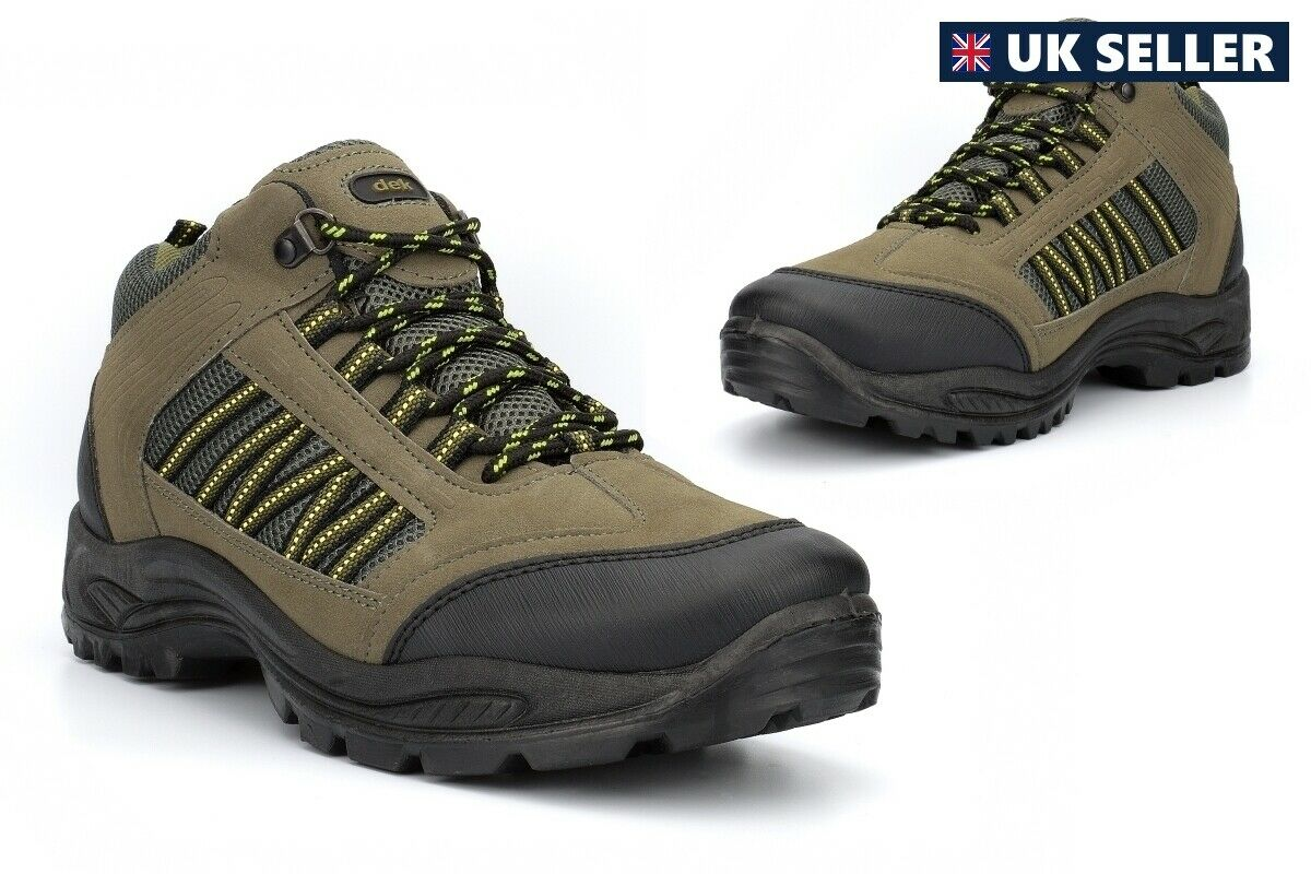 Mens Hiking Boots Mens Walking Boots Mens Ankle Boots Trekking Lace Up Khaki