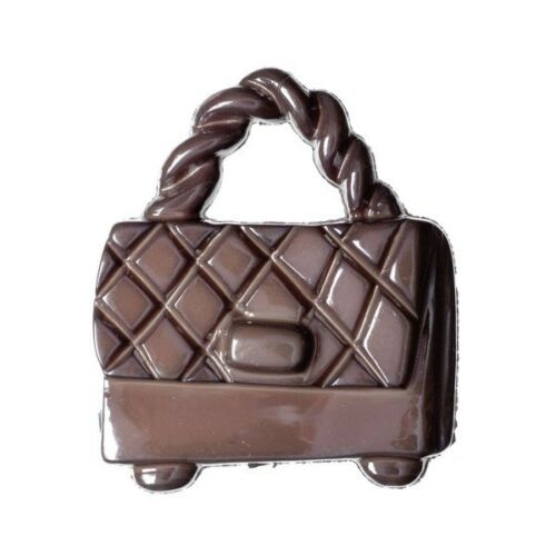 Hemline 21mm Pack of 4 Glossy Handbags Shank Back Buttons Bag