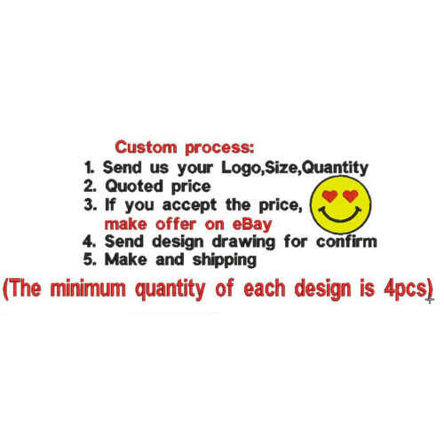 Personalized Logo Custom Made Iron on Patch Badges Emblems Embroidered DIY Patch