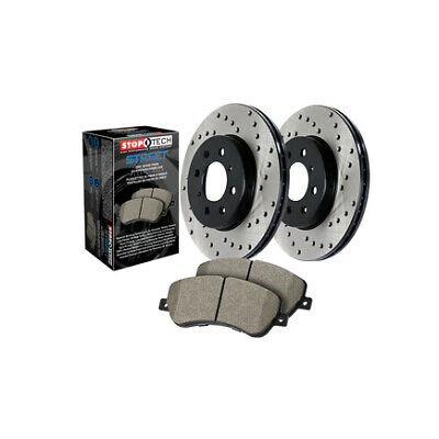 Stoptech 939.40044 Street Axle Pack Drilled Front