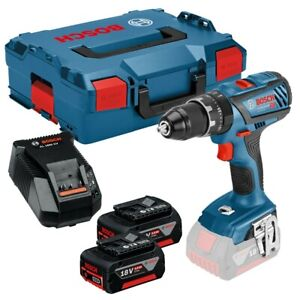 Bosch Gsb18v 28 Professional Cordless Combi Drill 18v 3 0ah Battery 2 Charger Ebay